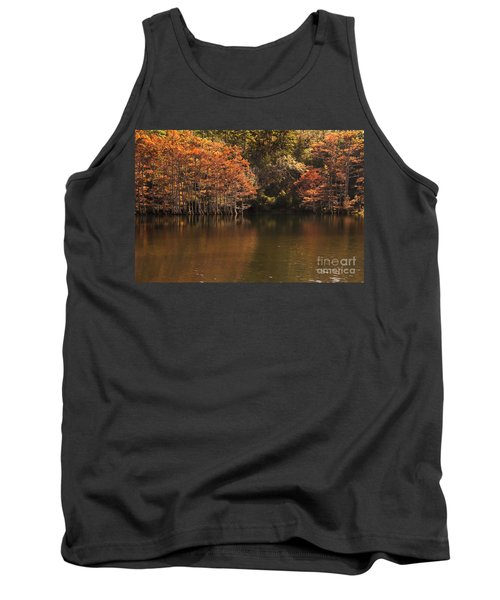 Sunlit Cypress Trees On Beaver's Bend Tank Top