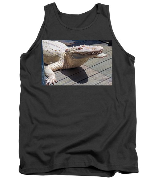 Sunning Albino Alligator Tank Top