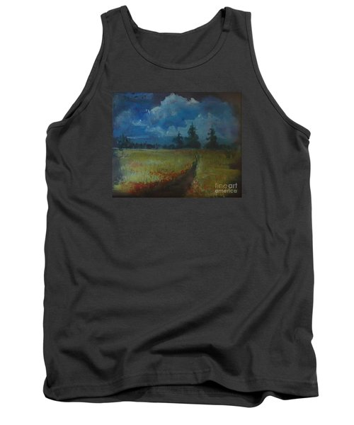Tank Top featuring the painting Sunny Field by Christina Verdgeline