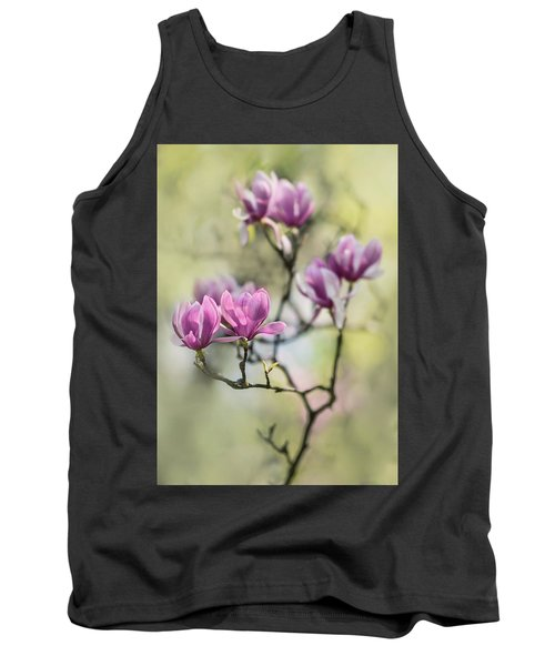 Sunny Impression With Pink Magnolias Tank Top