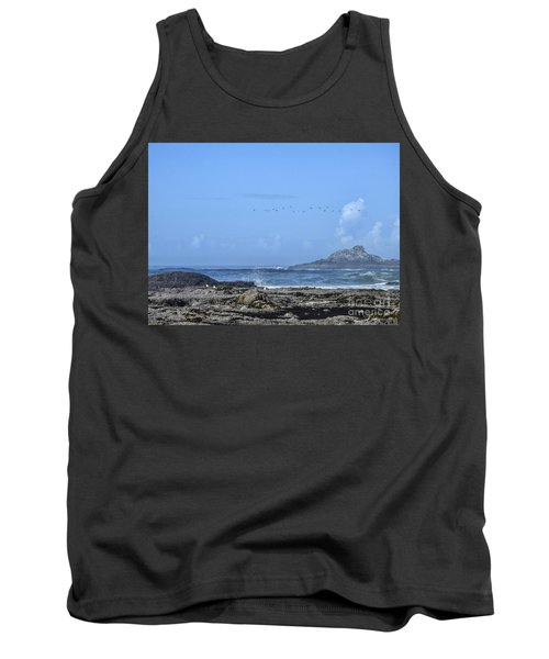 Tank Top featuring the photograph Sunny Morning At Roads End by Peggy Hughes