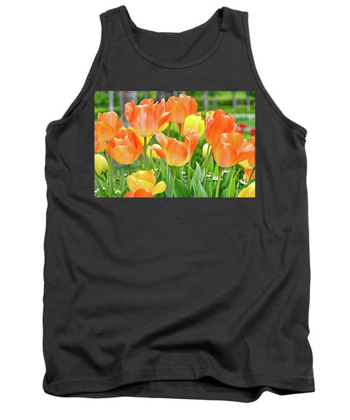 Tank Top featuring the photograph Sunny Tulips by David Lawson