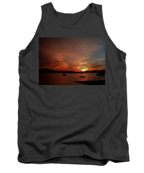 Sunraise Over Lake Tank Top