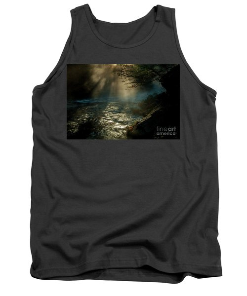 Sunrays At Fork River Tank Top by Iris Greenwell