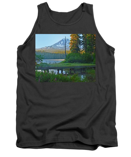 Tank Top featuring the photograph Sunrise At Takhlakh Lake Under Mt Adams by Jack Moskovita
