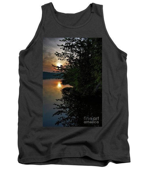 Sunrise At The Lake Tank Top by Henry Kowalski