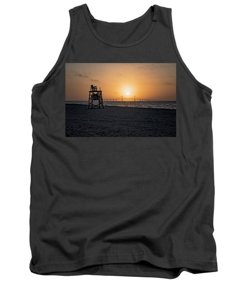 Sunrise At The Skyway Bridge Tank Top by Michael White