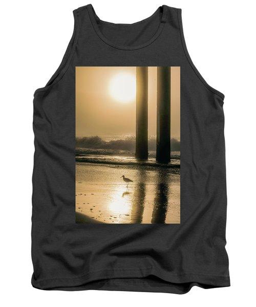 Tank Top featuring the photograph Sunrise Bird At Beach  by John McGraw