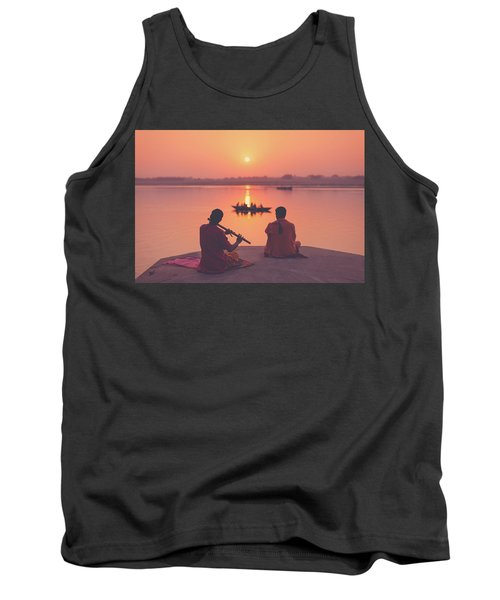 Sunrise By The Ganges Tank Top
