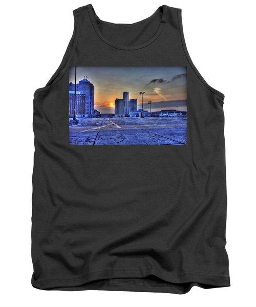 Sunrise In Detroit Mi Tank Top by Nicholas  Grunas