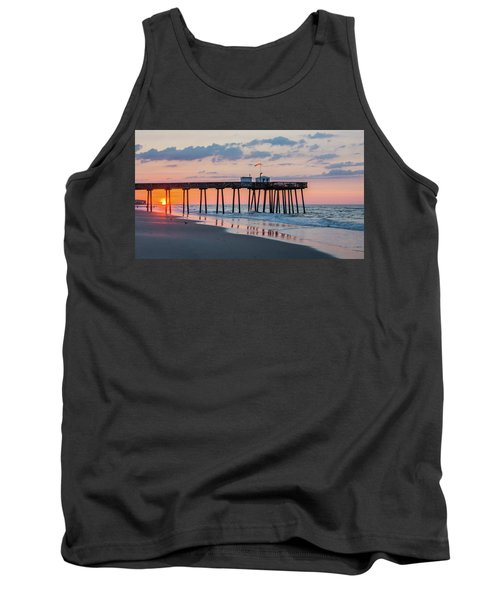 Sunrise Ocean City Fishing Pier Tank Top by Photographic Arts And Design Studio
