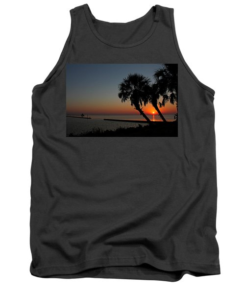 Tank Top featuring the photograph Sunrise On Pleasure Island by Judy Vincent