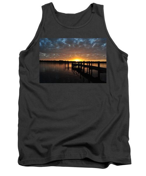 Tank Top featuring the photograph Sunrise On The Bayou by Michele Kaiser