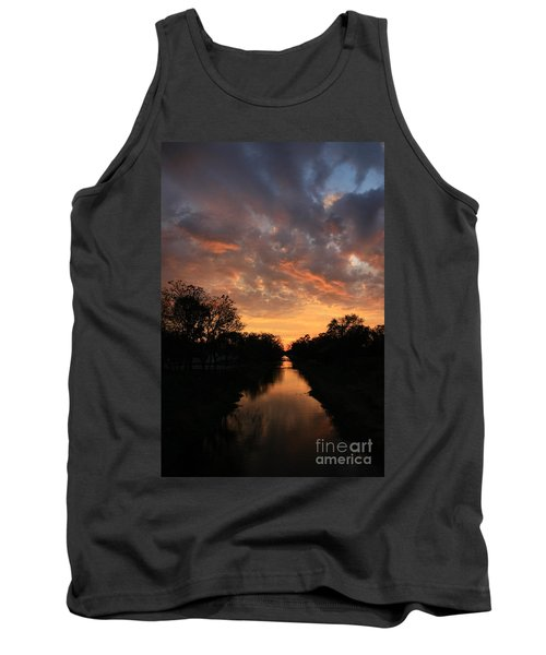 Sunrise On The Illinois Michigan Canal Tank Top