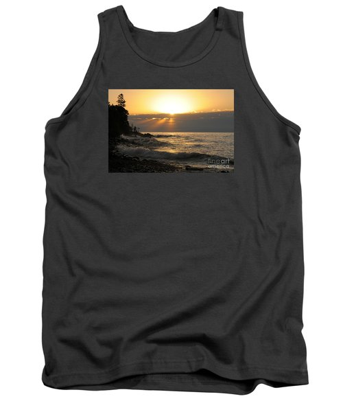 Tank Top featuring the photograph Sunrise On The Point by Sandra Updyke