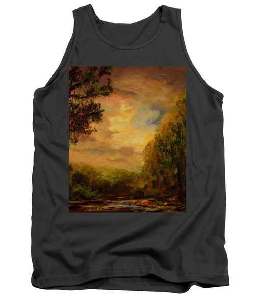 Sunrise On The River Tank Top