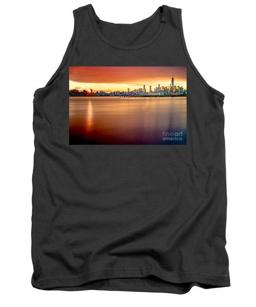 Sunrise On The Weehawken Waterfront Tank Top