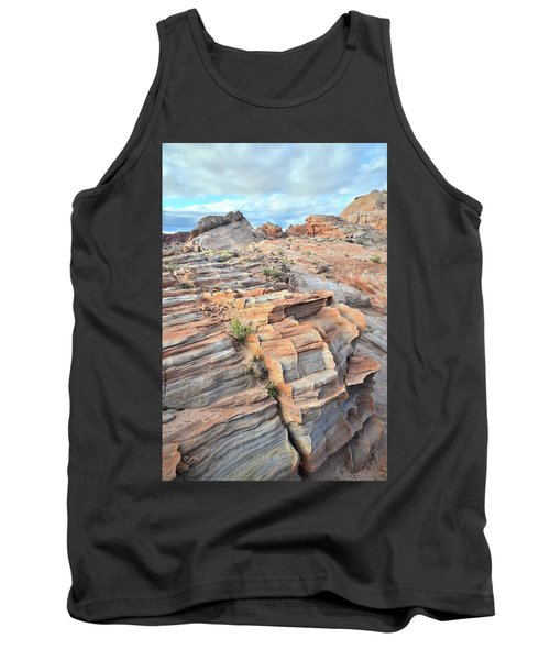 Sunrise On Valley Of Fire Tank Top by Ray Mathis