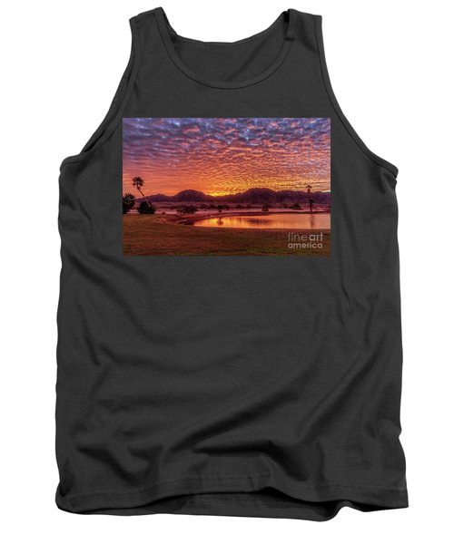 Tank Top featuring the photograph Sunrise Over Gila Mountain Range by Robert Bales