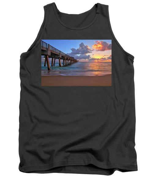 Sunrise Over Juno Beach Pier In Florida Tank Top