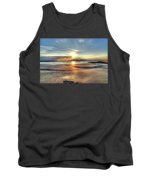 Sunrise Over Red Rock Park Lynn Ma Kings Beach Tank Top