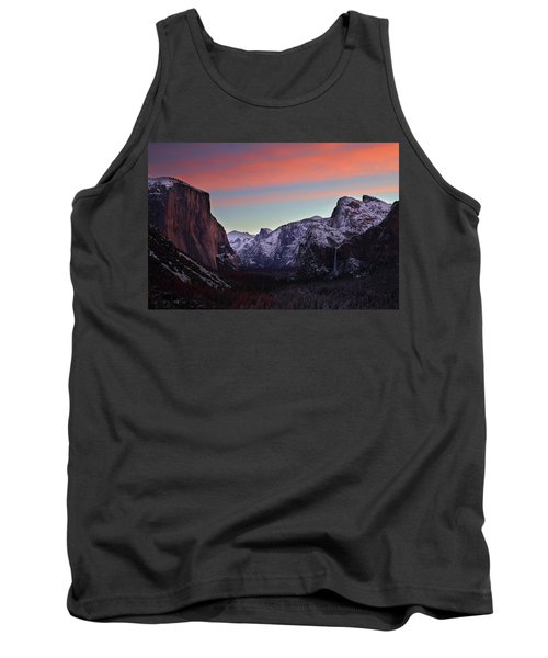 Tank Top featuring the photograph Sunrise Over Yosemite Valley In Winter by Jetson Nguyen