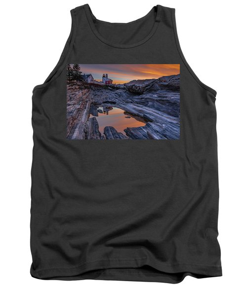 Sunrise Reflections At Pemaquid Point Tank Top