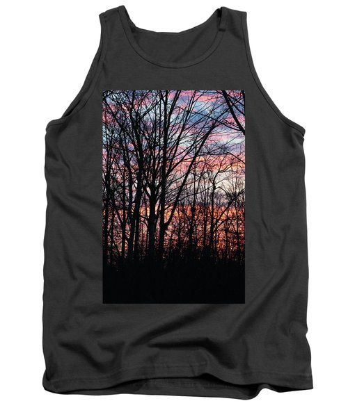 Sunrise Silhouette And Light Tank Top