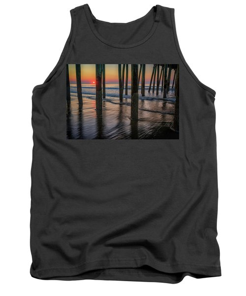 Tank Top featuring the photograph Sunrise Under The Pier by Rick Berk