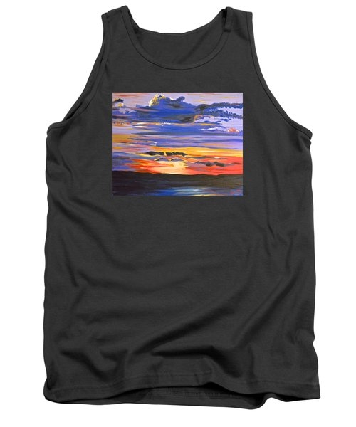 Sunset #5 Tank Top by Donna Blossom
