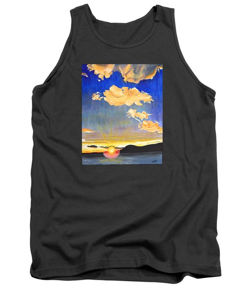 Sunset #6 Tank Top by Donna Blossom