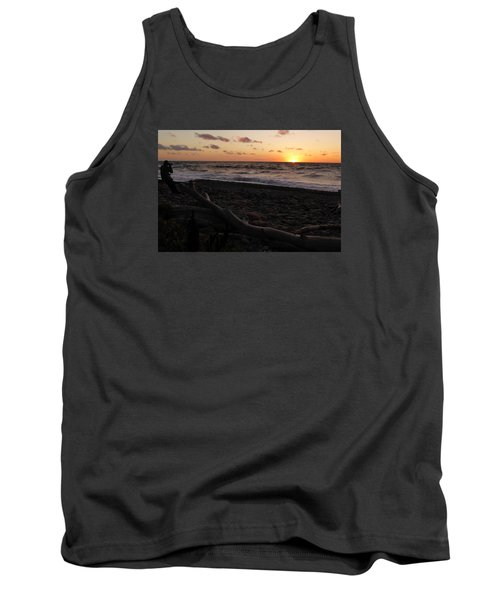 Tank Top featuring the photograph Sunset At Cap Rouge by Joel Deutsch