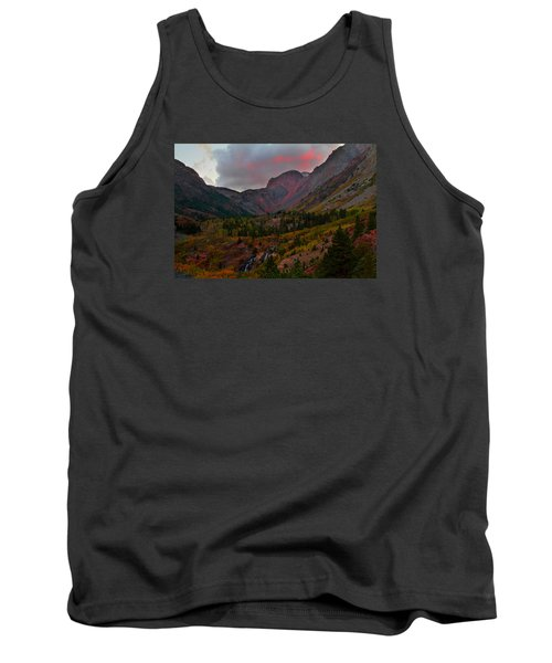 Sunset At Lundy Canyon During Autumn In The Eastern Sierras Tank Top