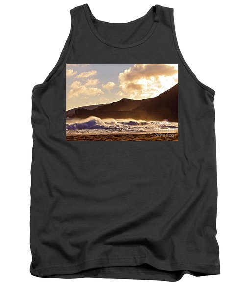 Tank Top featuring the photograph Sunset At Sandy Beach by Kristine Merc