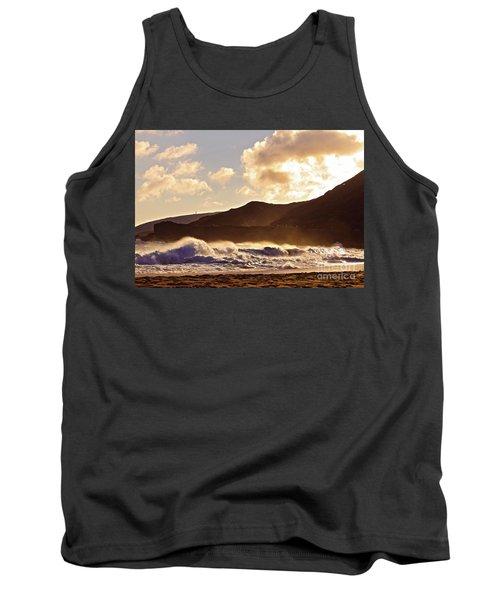Sunset At Sandy Beach Tank Top by Kristine Merc