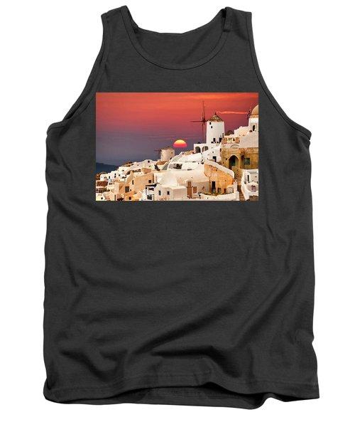 sunset at Santorini Tank Top