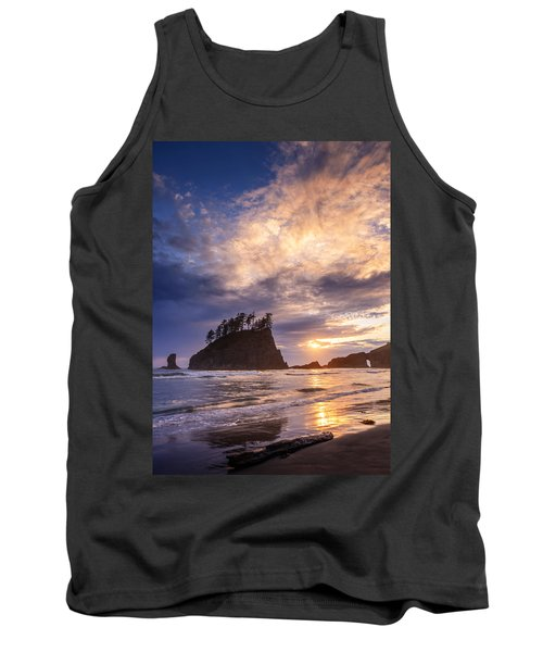 Tank Top featuring the photograph Sunset At Second Beach by Dan Mihai