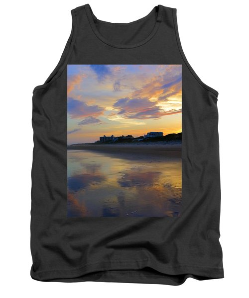 Sunset At The Beach Tank Top by Betty Buller Whitehead