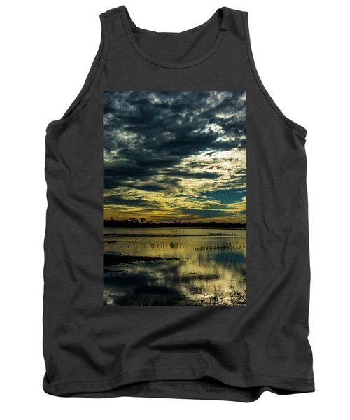 Sunset At The Wetlands Tank Top