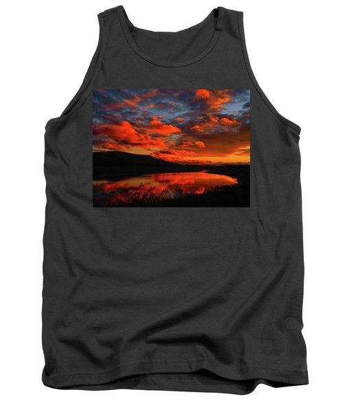 Sunset At Wallkill River National Wildlife Refuge Tank Top by Raymond Salani III