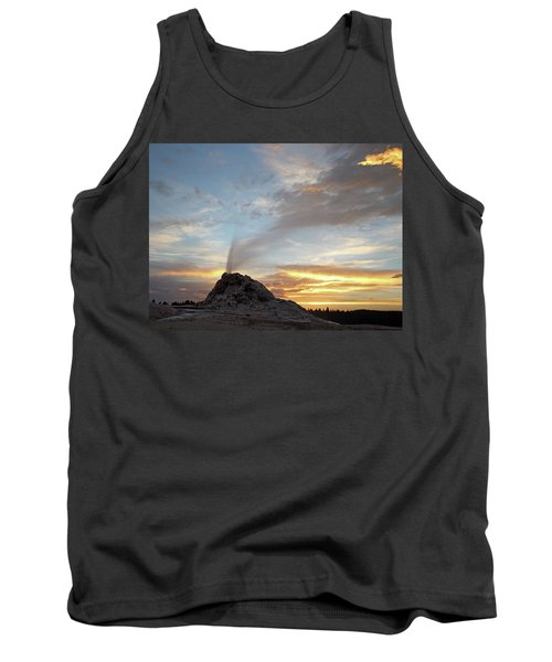 Sunset At White Dome Geyser Tank Top