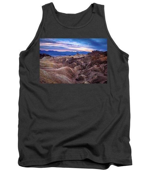 Sunset At Zabriskie Point In Death Valley National Park Tank Top