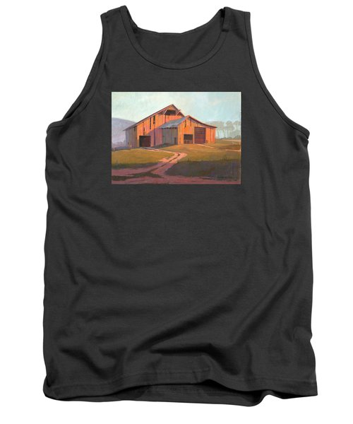 Sunset Barn Tank Top by Michael Humphries