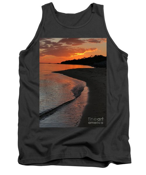 Tank Top featuring the photograph Sunset Bay by Lori Mellen-Pagliaro