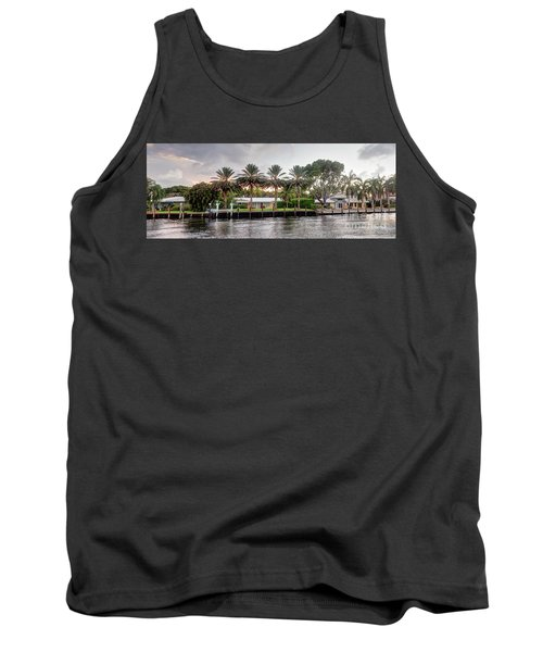 Sunset Behind Residential Palms Tank Top