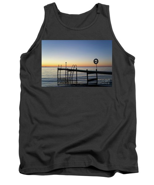 Tank Top featuring the photograph Sunset By The Old Bath Pier by Kennerth and Birgitta Kullman