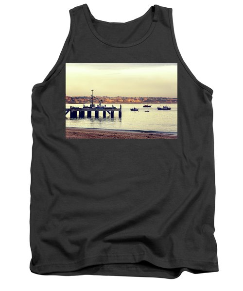 Tank Top featuring the photograph Sunset By The Sea by Marion McCristall