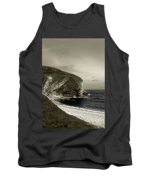 Tank Top featuring the photograph Sunset Cliff by Sebastian Mathews Szewczyk