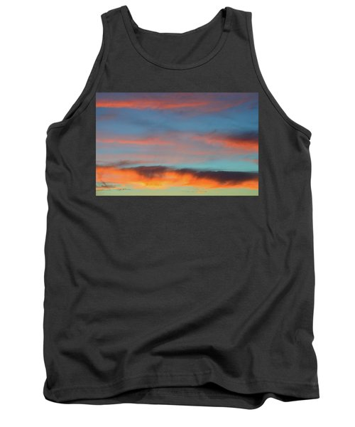 Sunset Clouds In Blue Sky  Tank Top by Lyle Crump