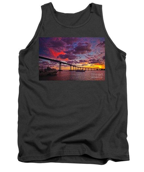 Sunset Crossing At The Coronado Bridge Tank Top